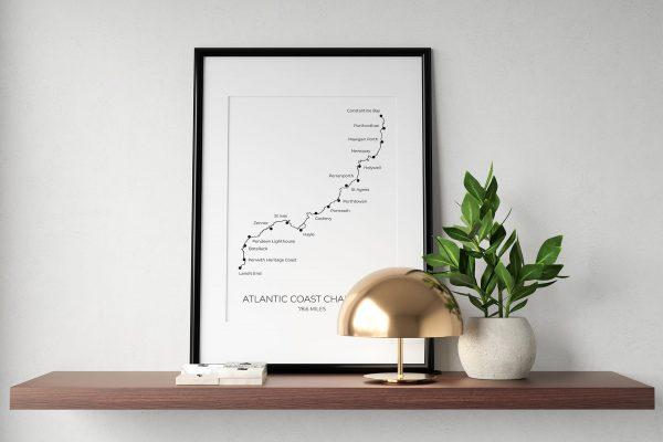 Atlantic Coast Challenge art print in a picture frame