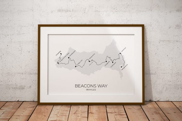 Beacons Way art print in a picture frame