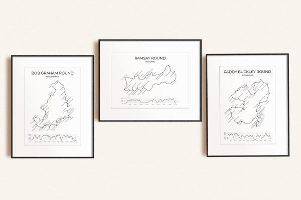 Big Rounds fell-running challenges art prints in picture frames