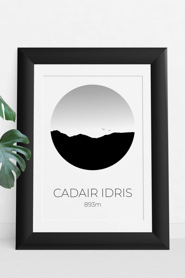 Cadair Idris art print in a picture frame