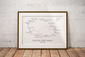Capital Ring Walk London art print in a picture frame