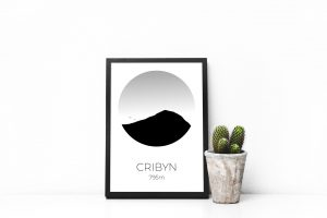 Cribyn art print in a picture frame