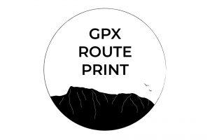 Custom GPX Route Print