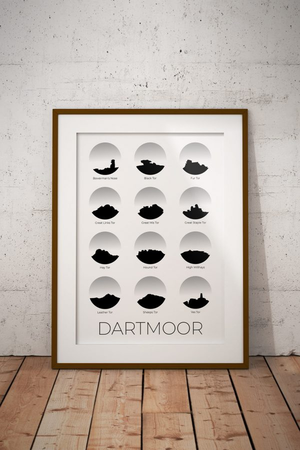 Dartmoor art print in a picture frame