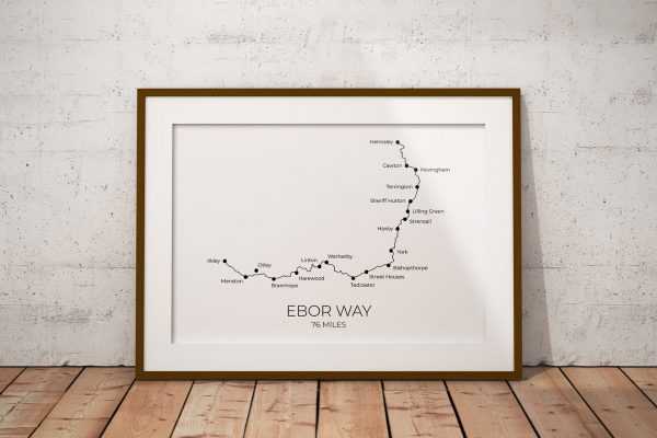 Ebor Way art print in a picture frame