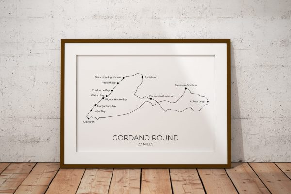 Gordano Round art print in a picture frame