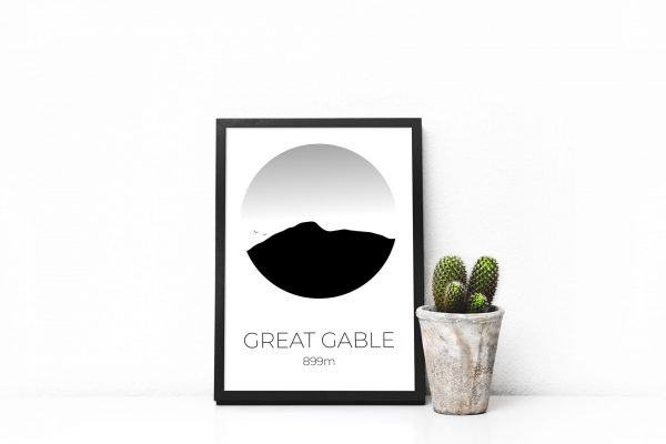 Great Gable art print in a picture frame