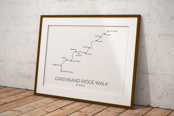 Greensand Ridge Walk art print in a picture frame