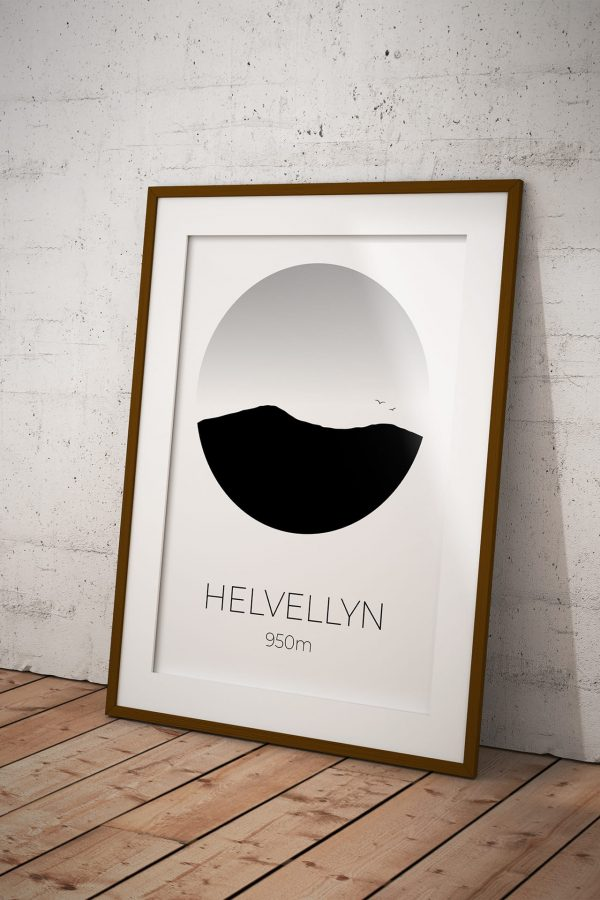 Helvellyn art print in a picture frame