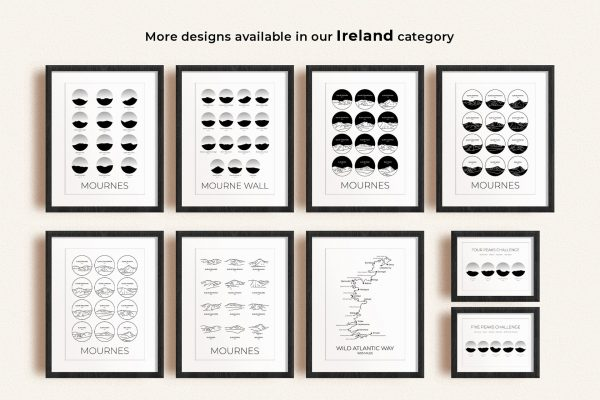 Ireland art prints in picture frames