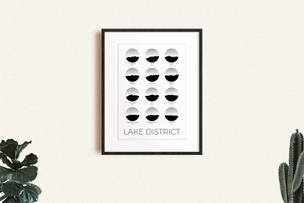 Lake District art print in a picture frame
