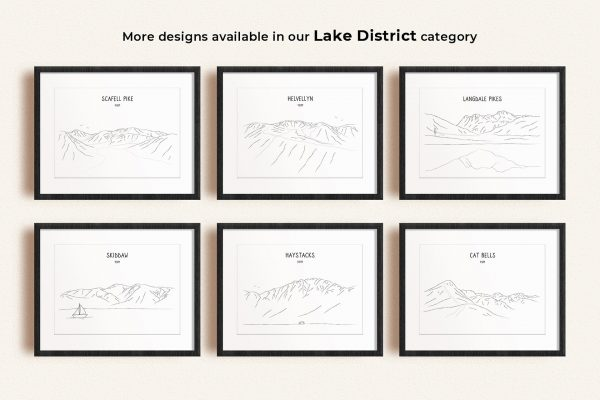 Lake District art prints in picture frames