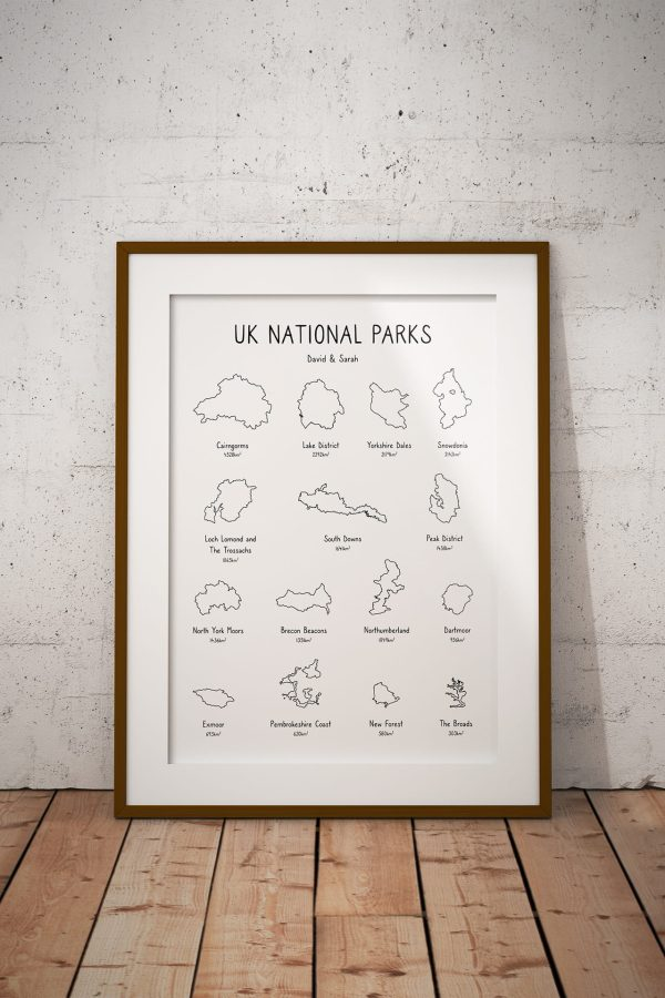 National Parks Personalised Print Example