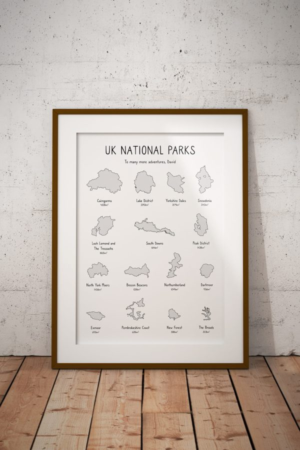 National Parks Shaded Personalised Print Example