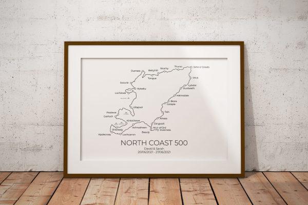 North Coast 500 Markable Personalised Print Example