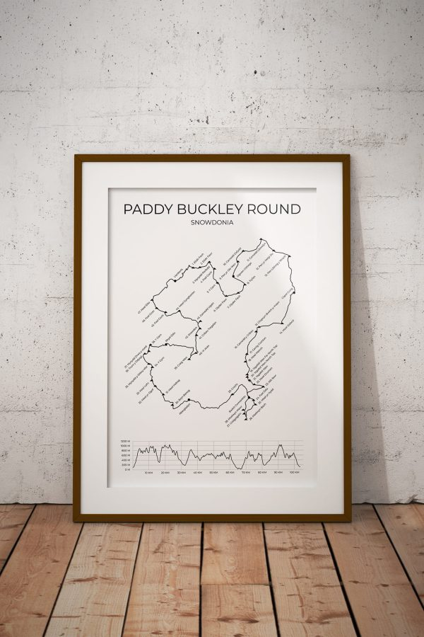 Paddy Buckley Round art print in a picture frame