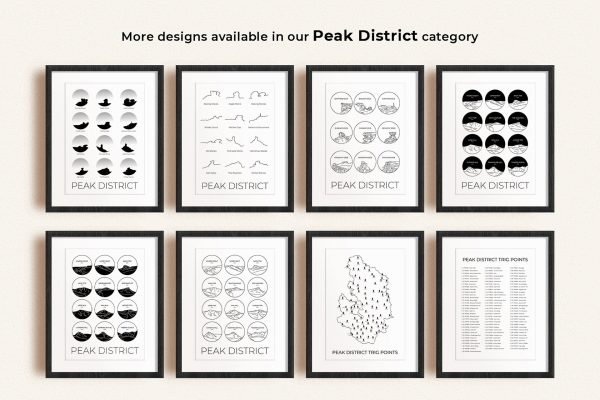 Peak District art prints in picture frames