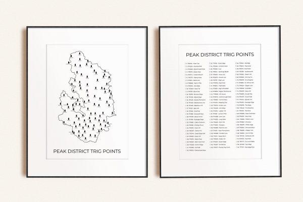 Peak District Trig Point (Dark) Art Prints Bundle