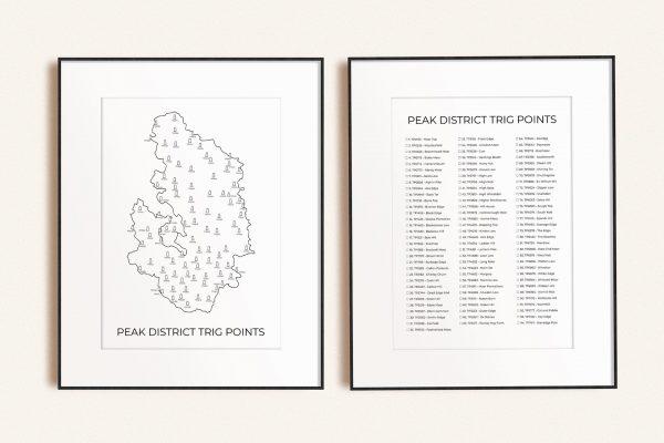 Peak District Trig Point (Light) Art Prints Bundle