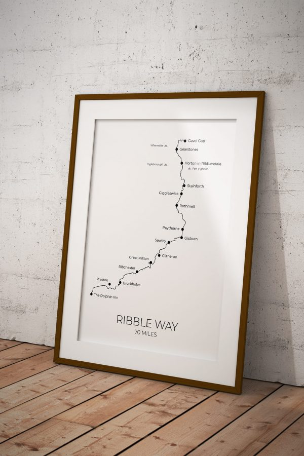 Ribble Way art print in a picture frame