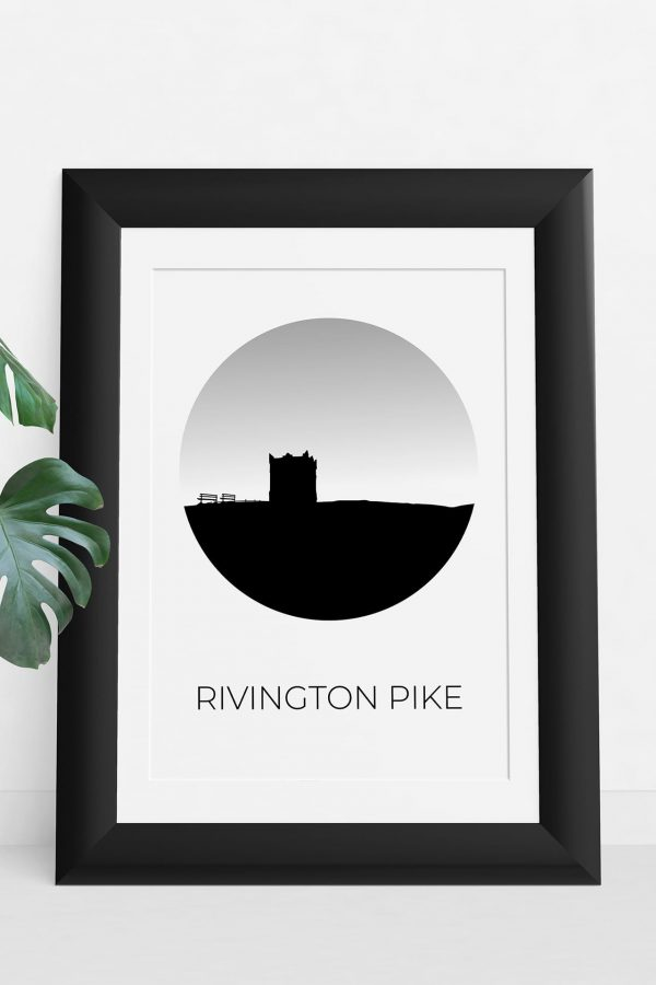 Rivington Pike art print in a picture frame
