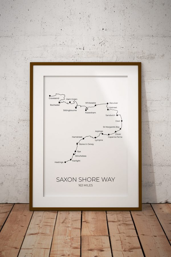 Saxon Shore Way art print in a picture frame