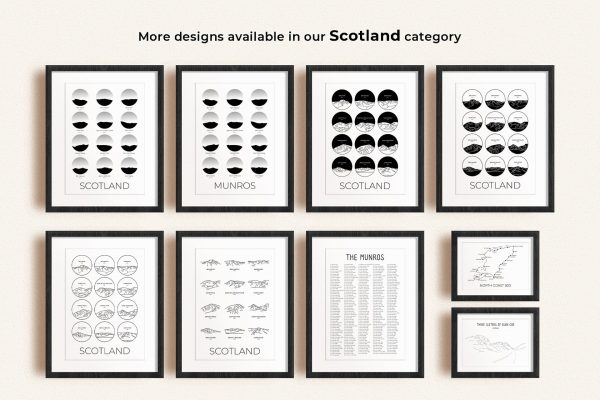 Scotland art prints in picture frames