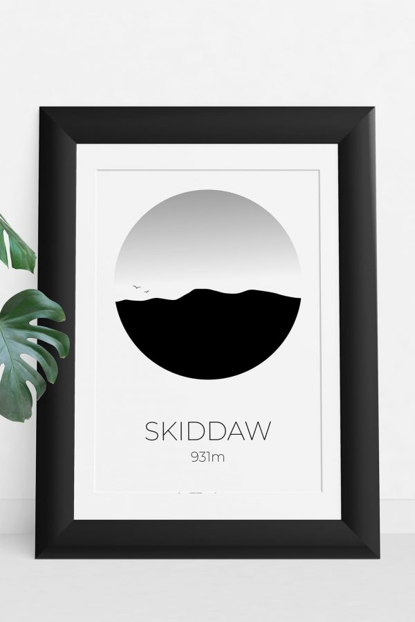 Skiddaw art print in a picture frame