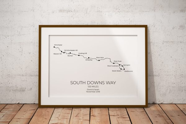 South Downs Way Personalised Print Example