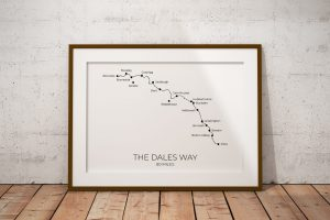 The Dales Way art print in a picture frame