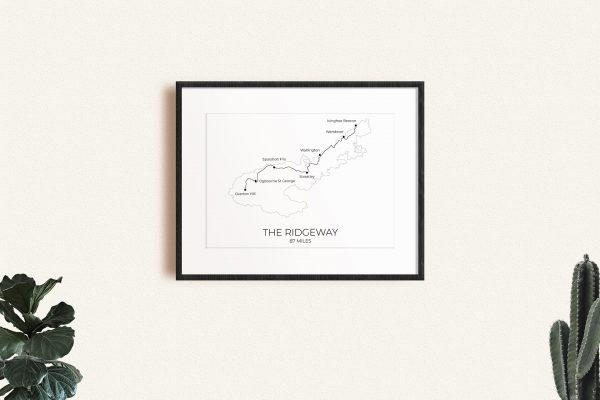 The Ridgeway art print in a picture frame