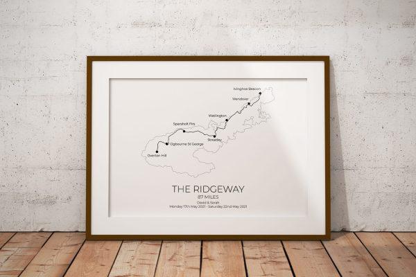 The Ridgeway Personalised Print Example
