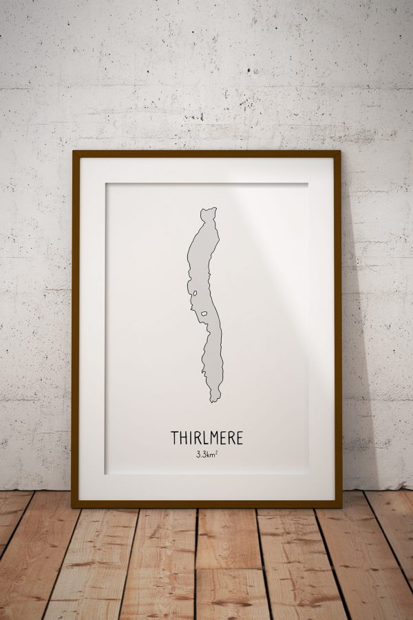 Thirlmere shaded art print in a picture frame