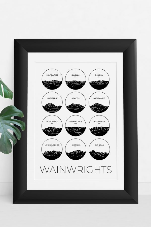 Wainwrights collage light art print in a picture frame