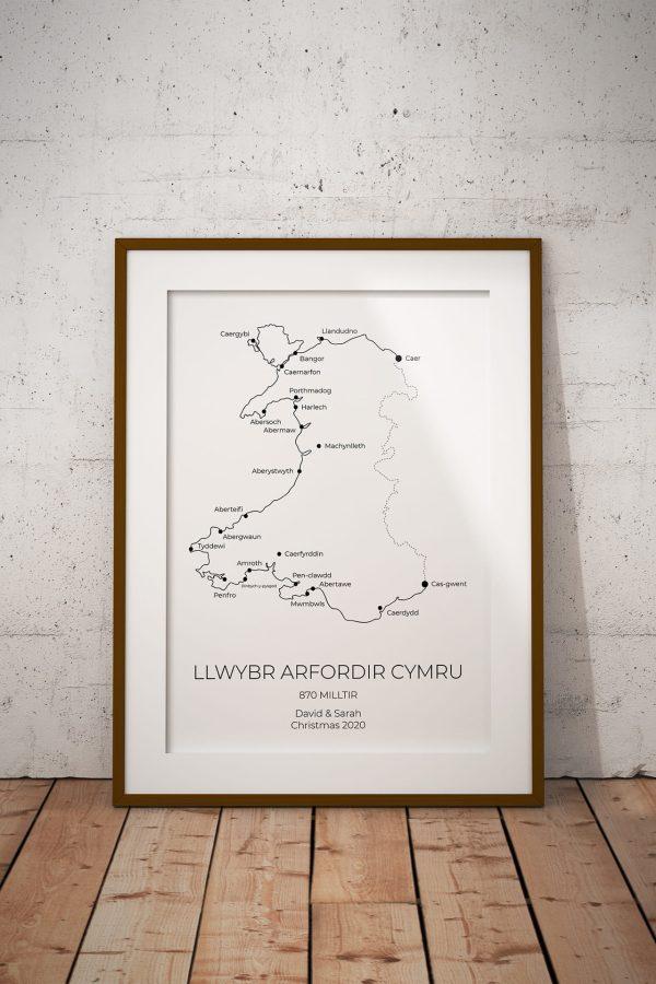 Wales Coast Path Cymraeg Personalised Print Example