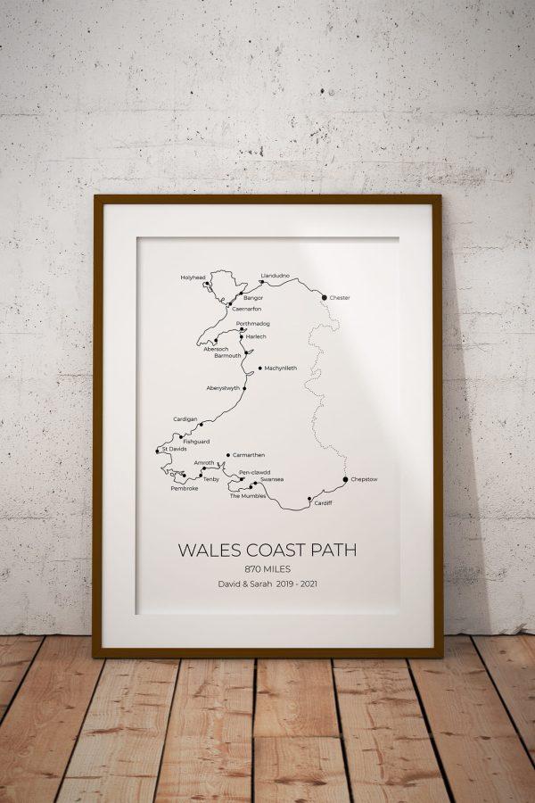 Wales Coast Path Personalised Print Example