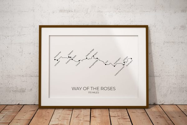 Way of the Roses art print in a picture frame
