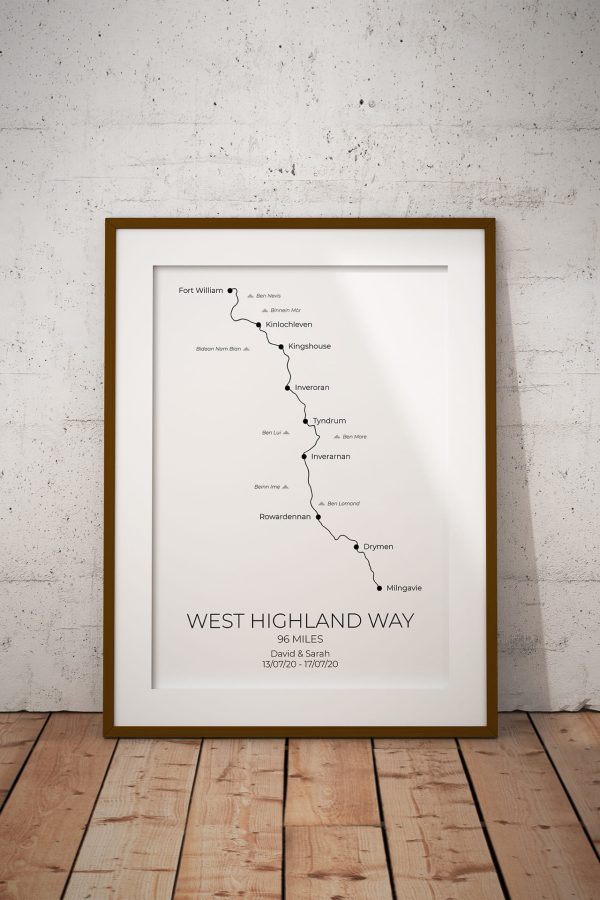 West Highland Way Personalised Print Example