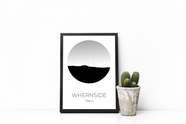 Whernside art print in a picture frame
