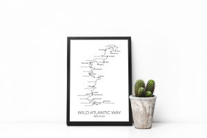 Wild Atlantic Way art print in a picture frame